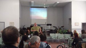 "Alan ministering at ""Living Word Temple"" in Winnipeg,Manitoba."